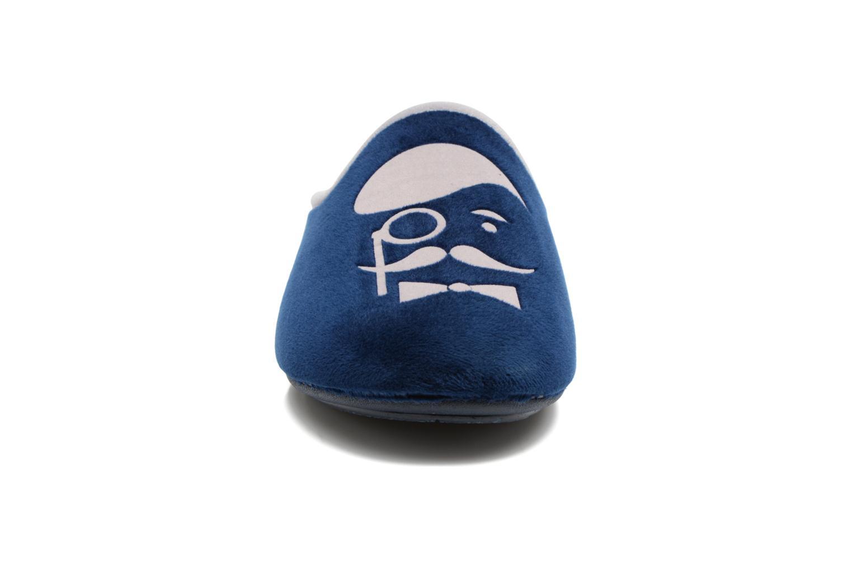 Chaussons Rondinaud Bayeux Bleu vue portées chaussures