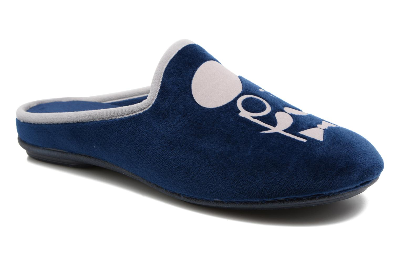 Chaussons Rondinaud Bayeux Bleu vue détail/paire