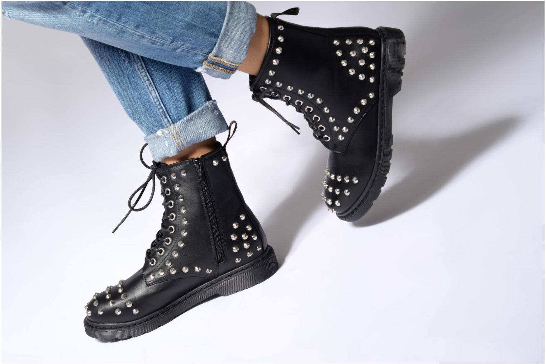 Bottines et boots Buffalo Choly Noir vue bas / vue portée sac