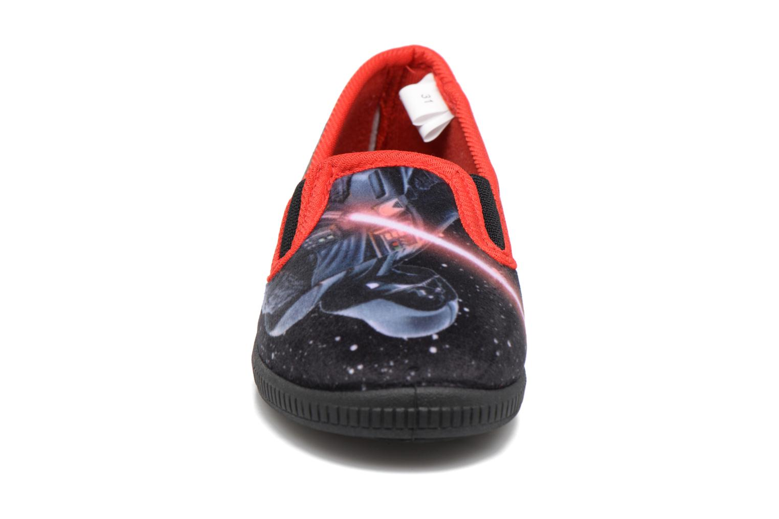 Chaussons Star Wars Sauvage Rouge vue portées chaussures