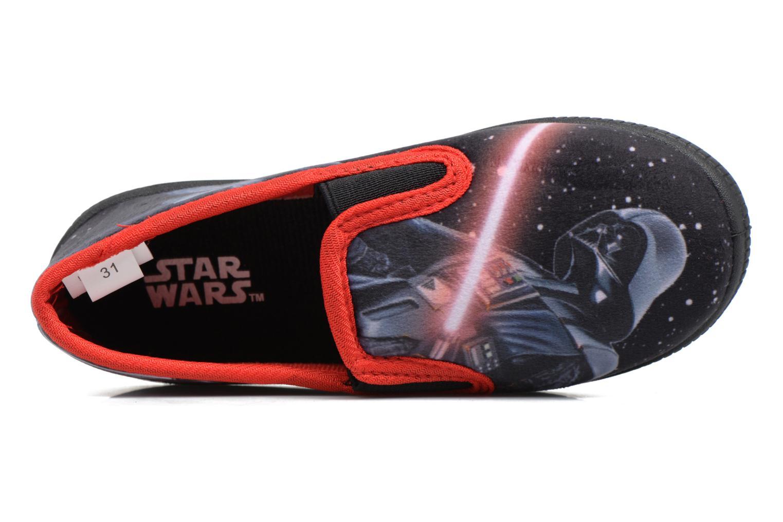 Chaussons Star Wars Sauvage Rouge vue gauche