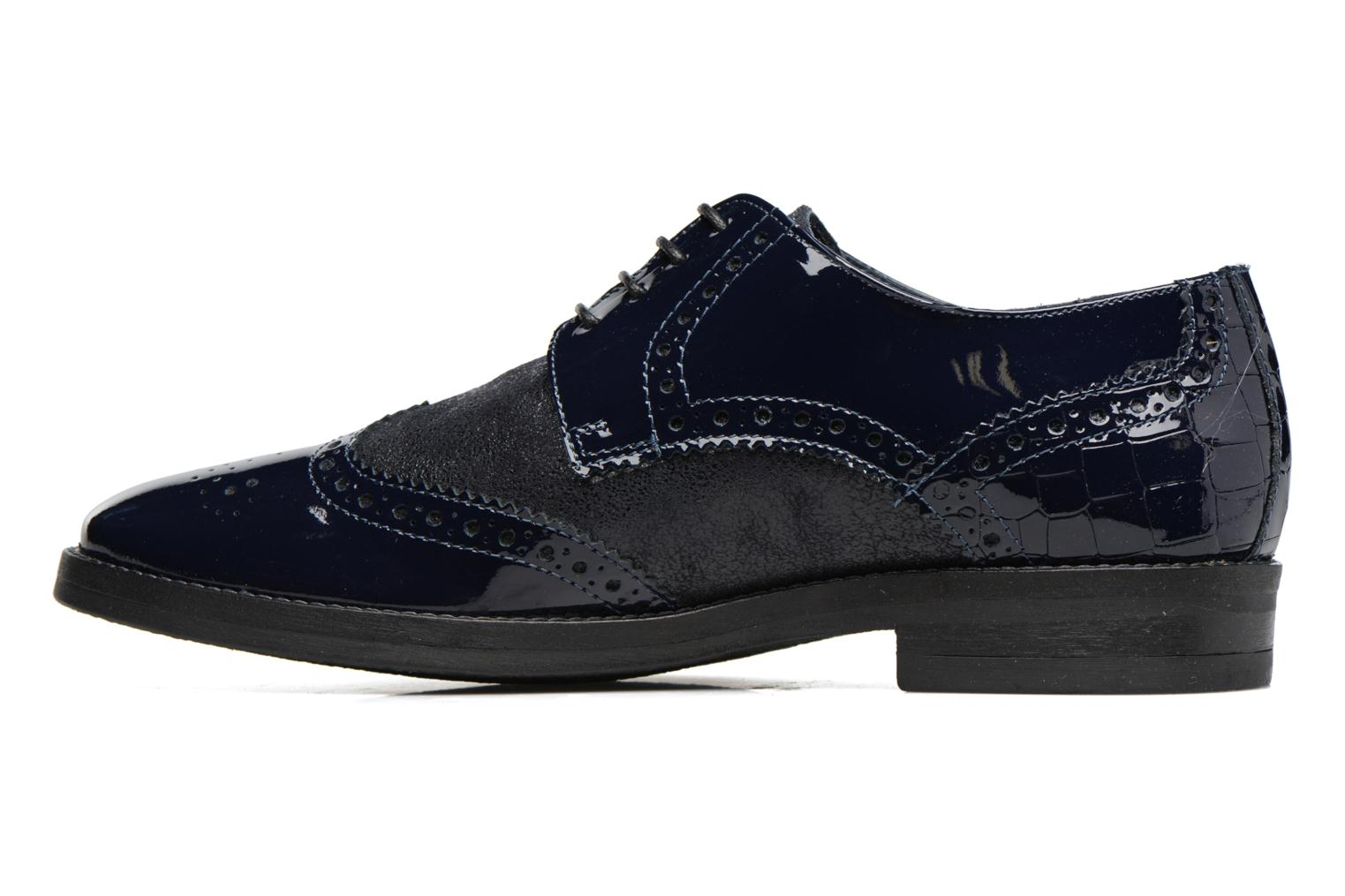 Lace-up shoes Georgia Rose Nirvane Blue front view