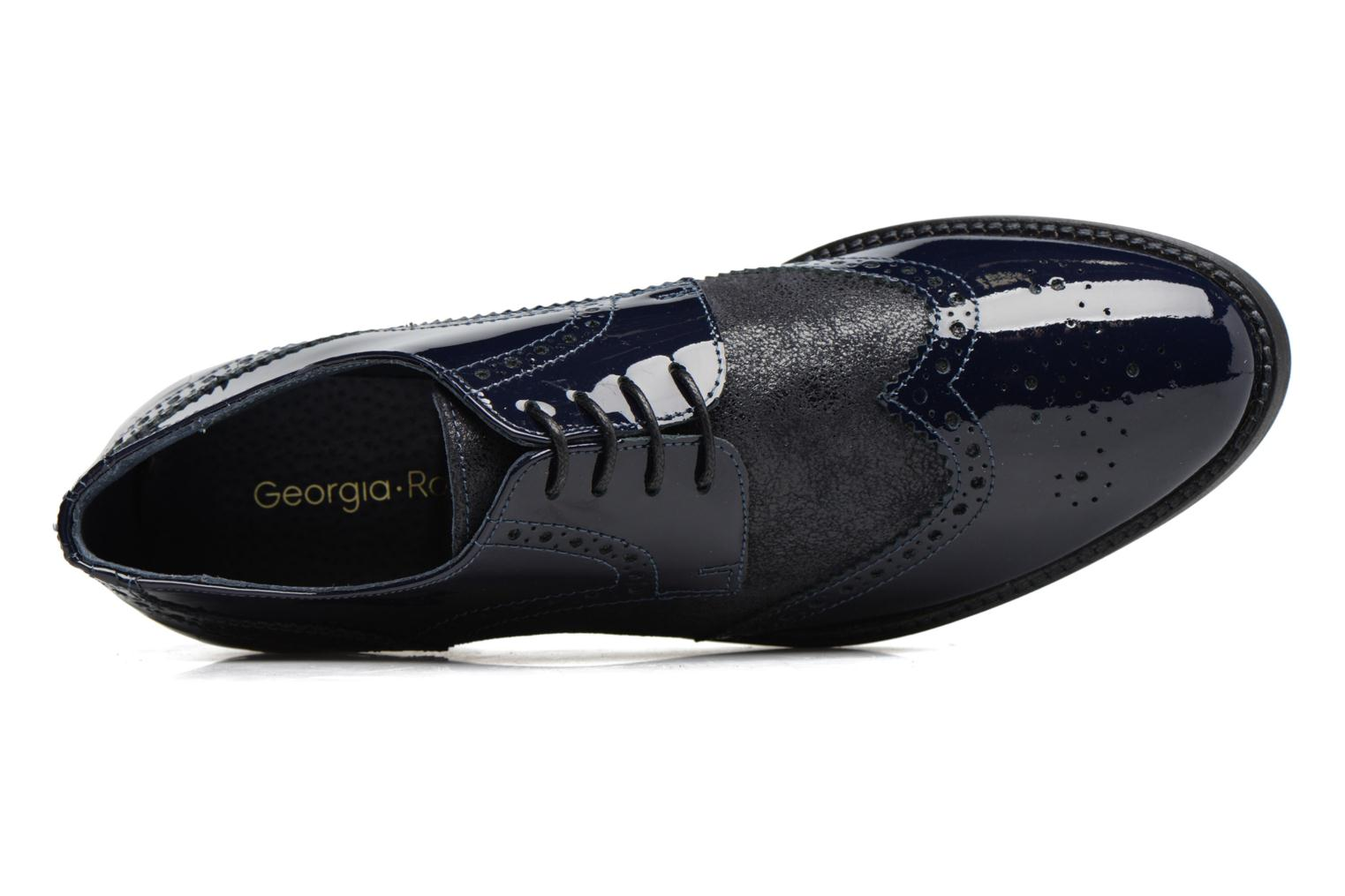 Lace-up shoes Georgia Rose Nirvane Blue view from the left