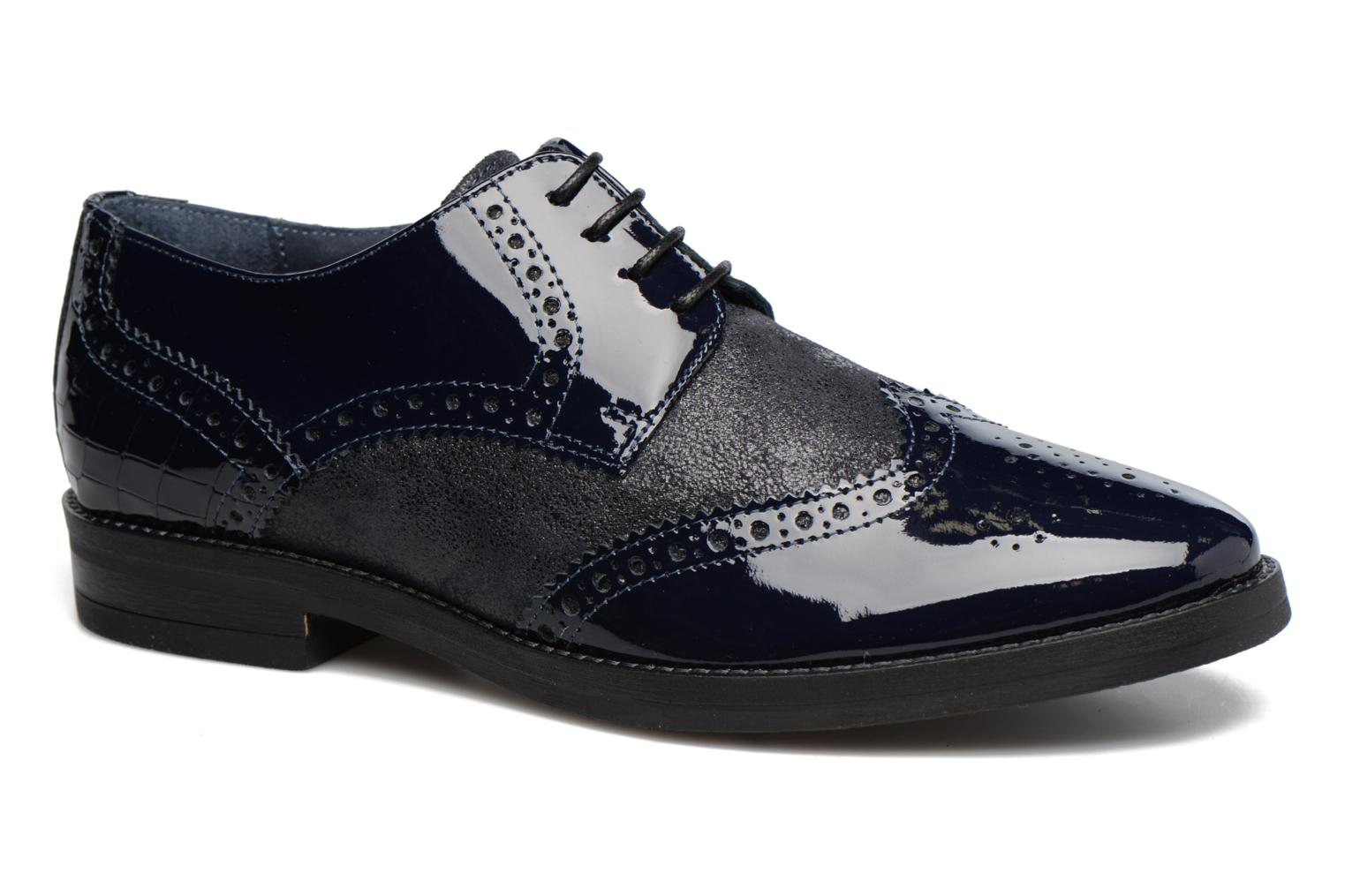 Lace-up shoes Georgia Rose Nirvane Blue detailed view/ Pair view