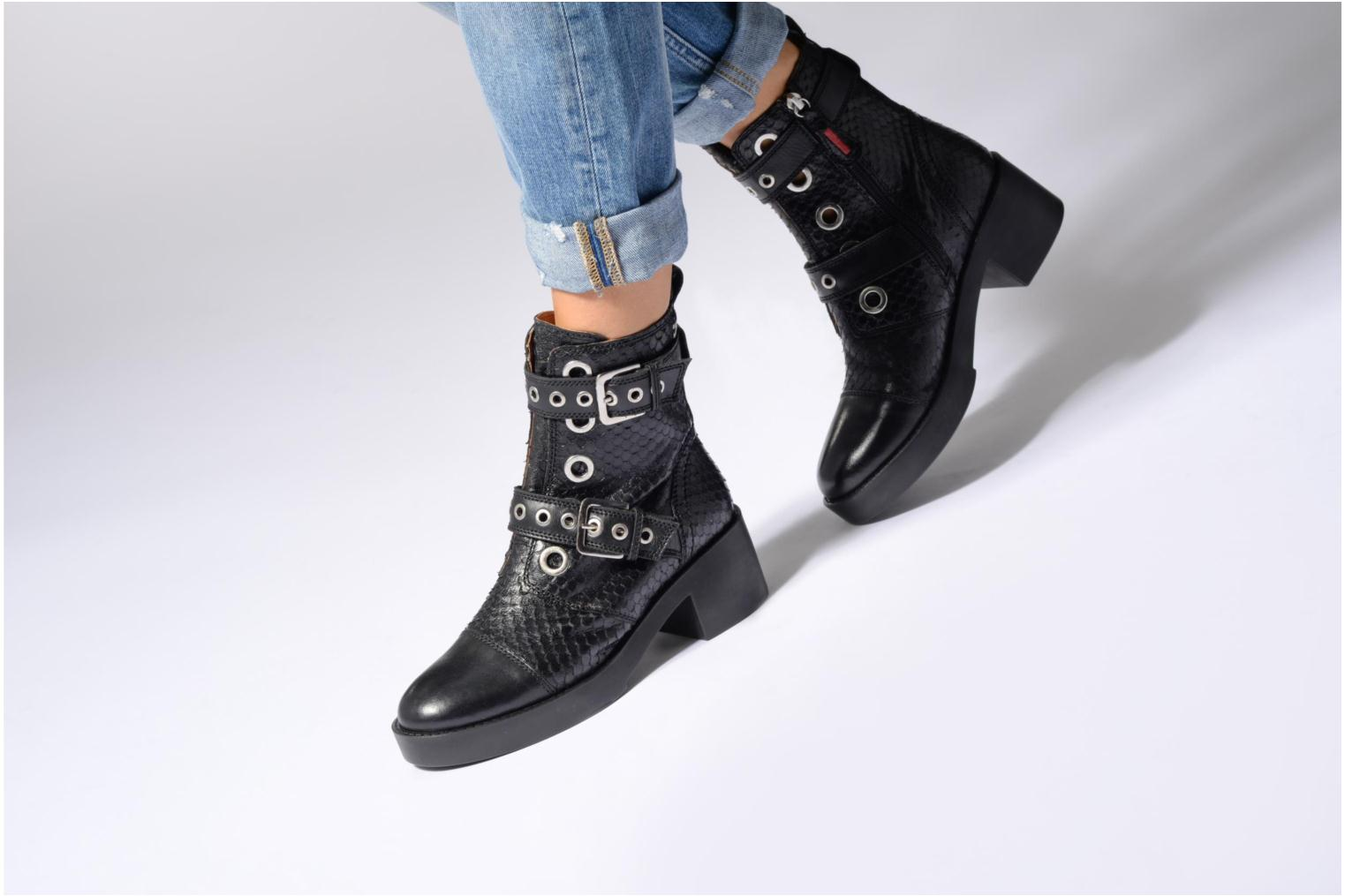 Ankle boots Gioseppo DOUBLON Black view from underneath / model view