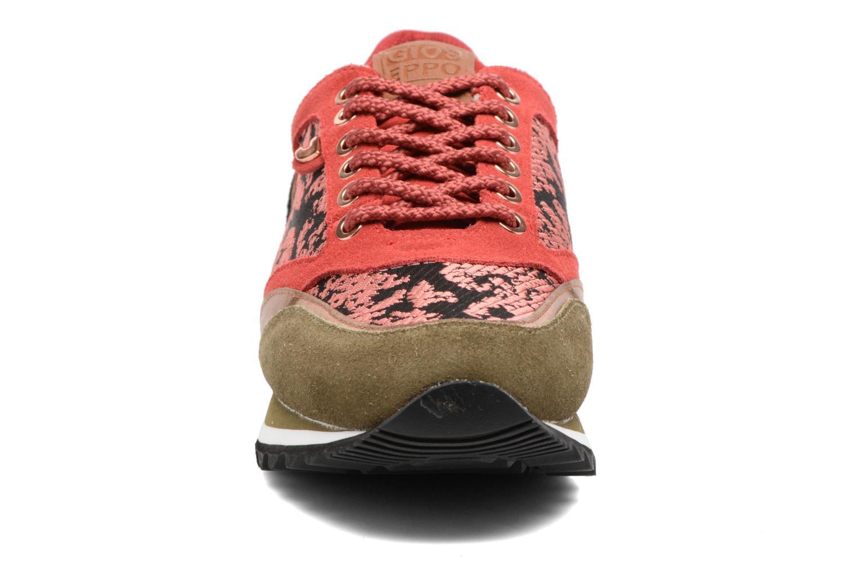 Baskets Gioseppo Rétrocorail Orange vue portées chaussures