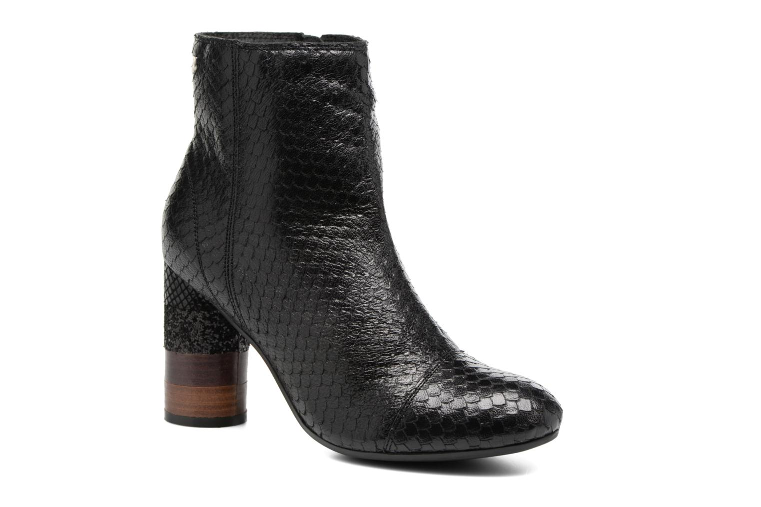 Ankle boots Gioseppo Jamie Black detailed view/ Pair view