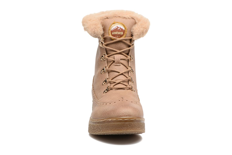 Bottines et boots MTNG Gras Beige vue portées chaussures