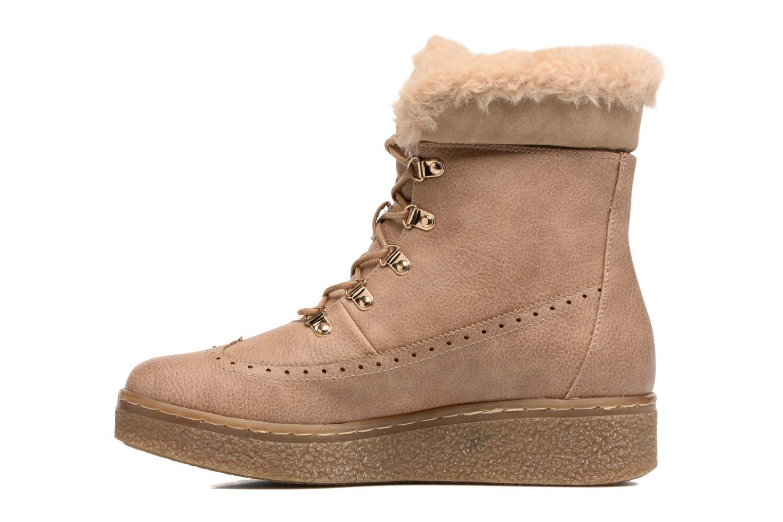 Bottines et boots MTNG Gras Beige vue face