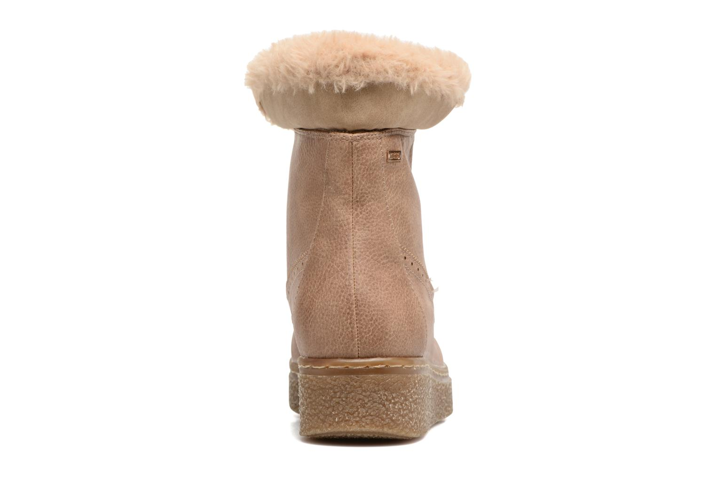 Bottines et boots MTNG Gras Beige vue droite