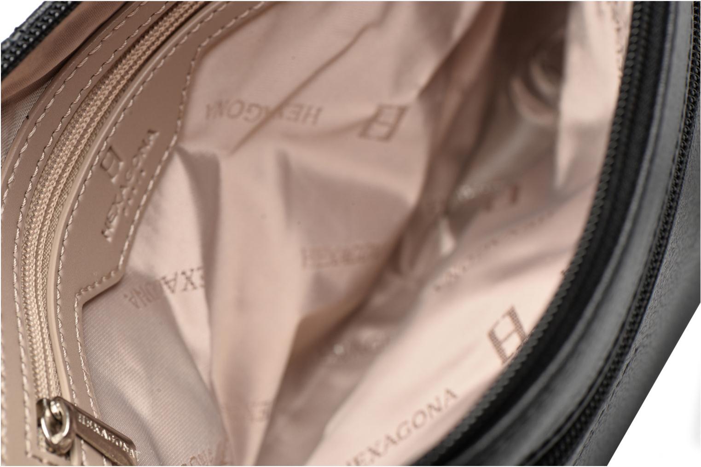 Handtassen Hexagona Crossbody Cuir Pretty Zwart achterkant