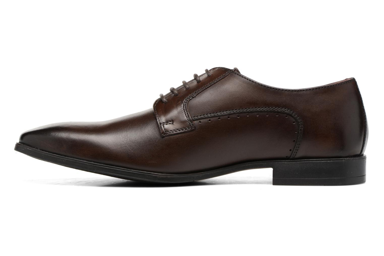 Chaussures à lacets Base London Penny Marron vue face