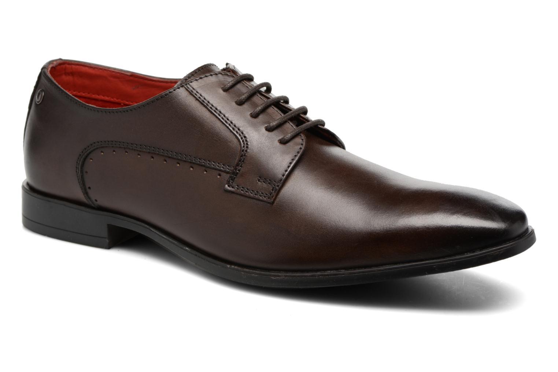 Chaussures à lacets Base London Penny Marron vue détail/paire