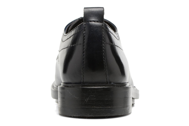 Zapatos con cordones Base London Elba Azul vista lateral derecha