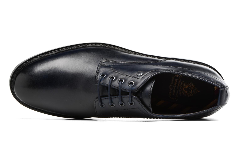 Zapatos con cordones Base London Elba Azul vista lateral izquierda