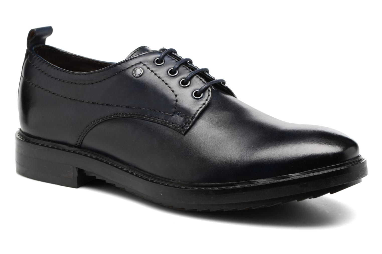 Lace-up shoes Base London Elba Blue detailed view/ Pair view