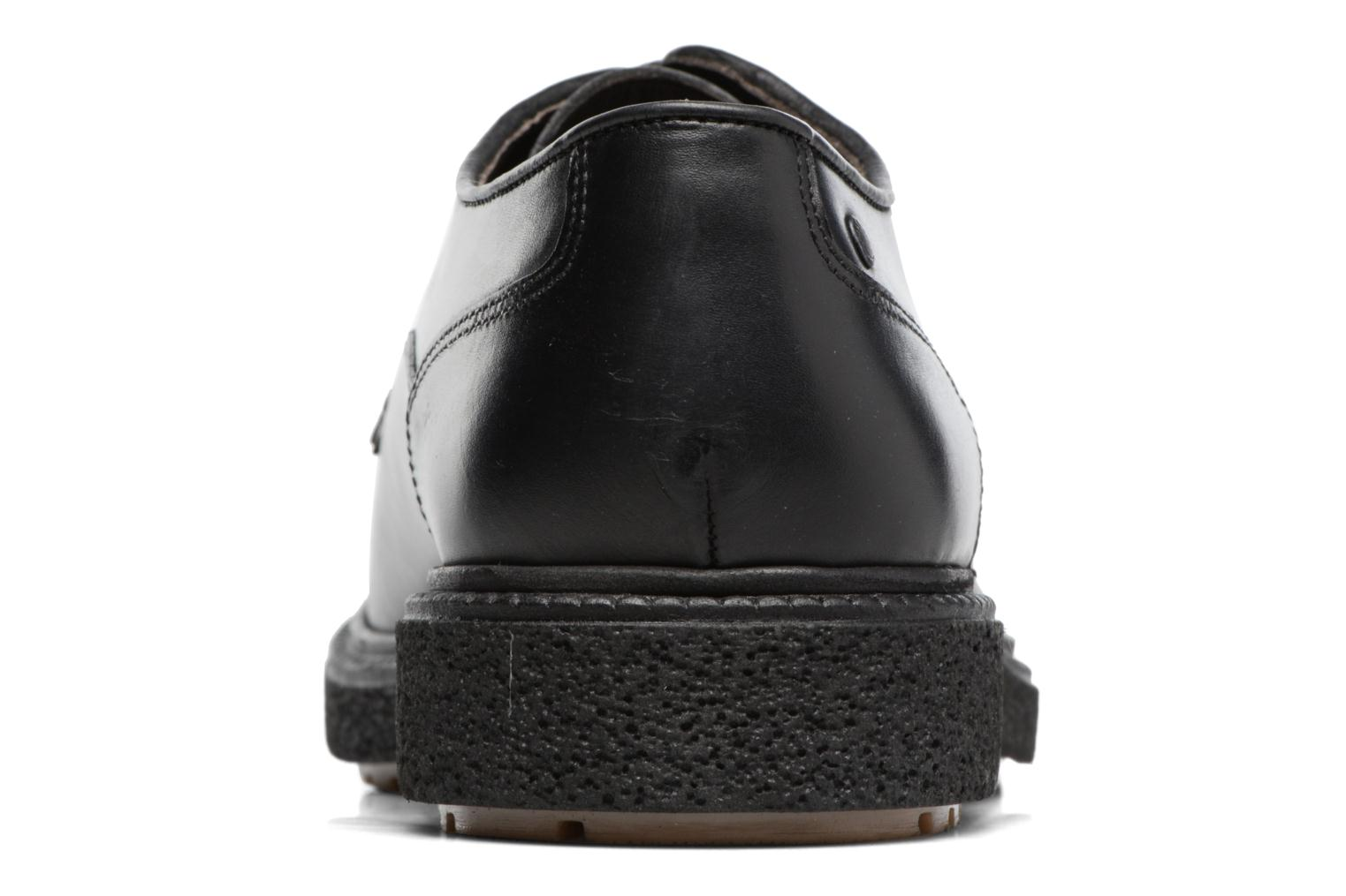 Lace-up shoes Base London Riot Black view from the right