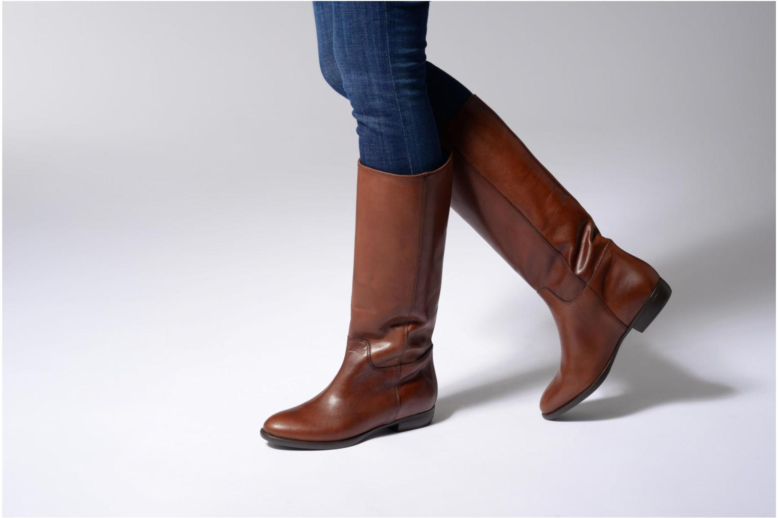 Boots & wellies Jonak 1137 Brown view from underneath / model view