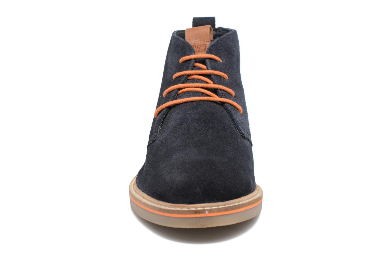 Scarpe con lacci Gioseppo 42253 Azzurro modello indossato