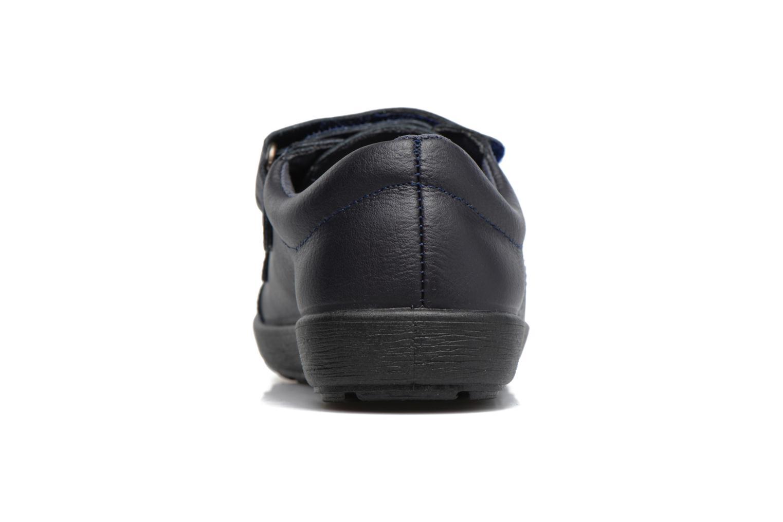 Zapatos con velcro Gioseppo NEWTON Azul vista lateral derecha