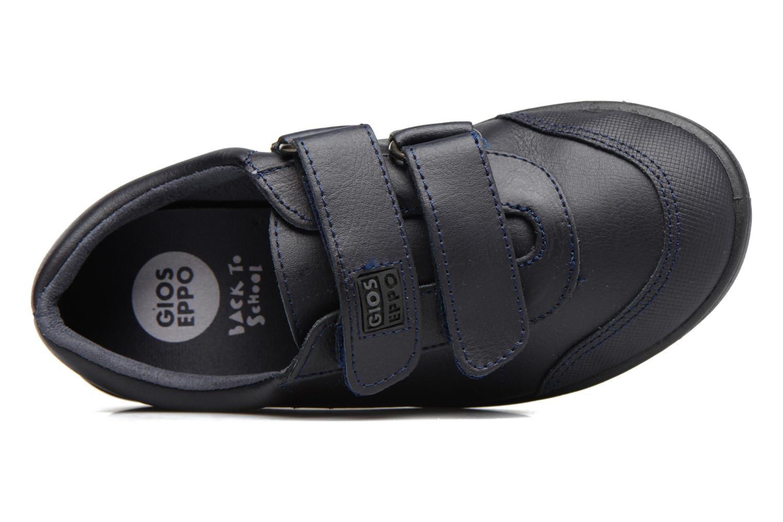 Zapatos con velcro Gioseppo NEWTON Azul vista lateral izquierda