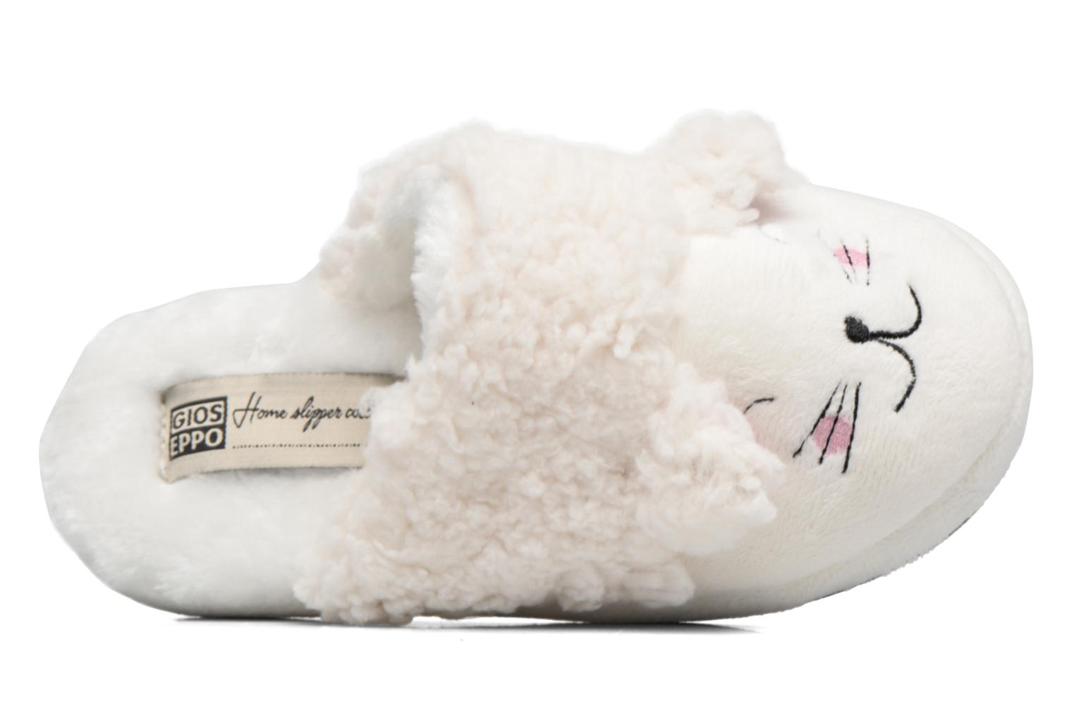 Slippers Gioseppo 40948 White view from the left