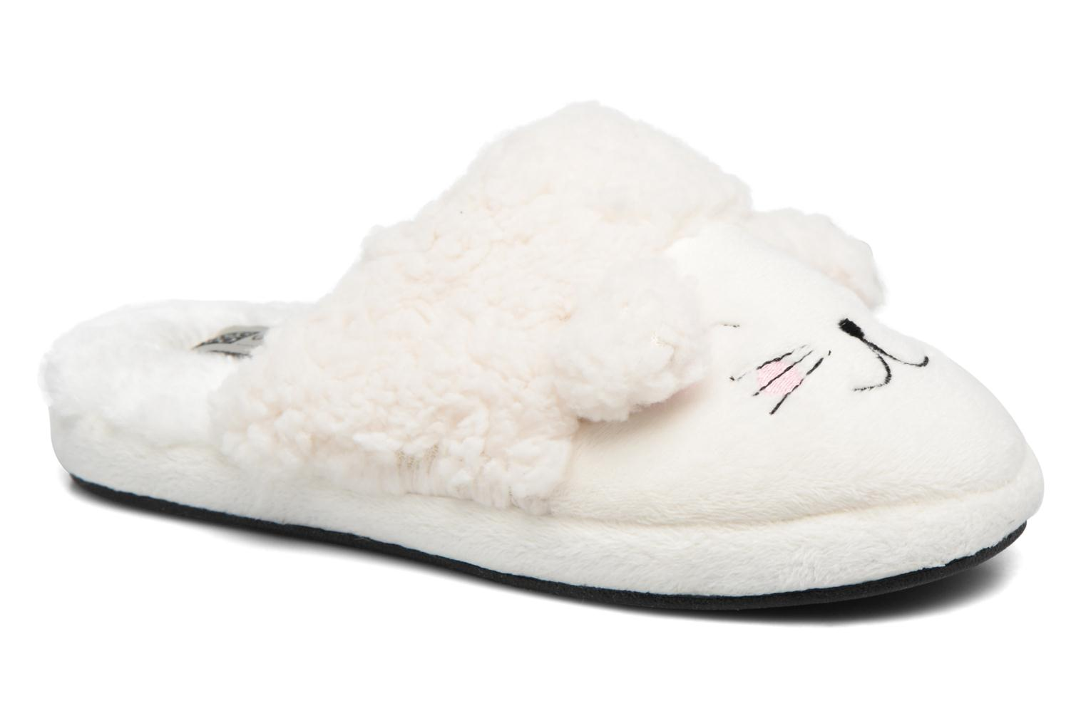 Slippers Gioseppo 40948 White detailed view/ Pair view