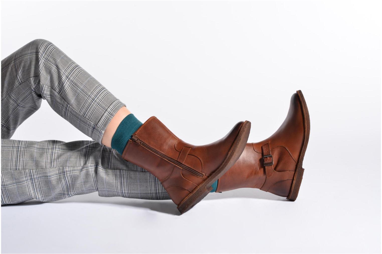 Stiefeletten & Boots Kickers CREEK schwarz ansicht von unten / tasche getragen