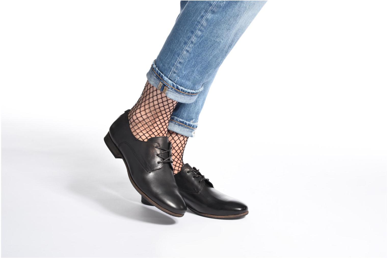 Chaussures à lacets Kickers GAZELLAN Marron vue bas / vue portée sac