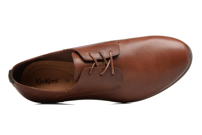 Chaussures à lacets Kickers GAZELLAN Marron vue gauche