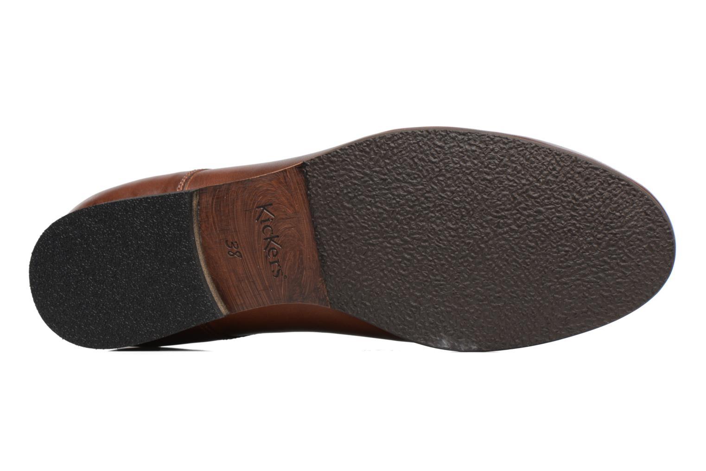 Chaussures à lacets Kickers GAZELLAN Marron vue haut