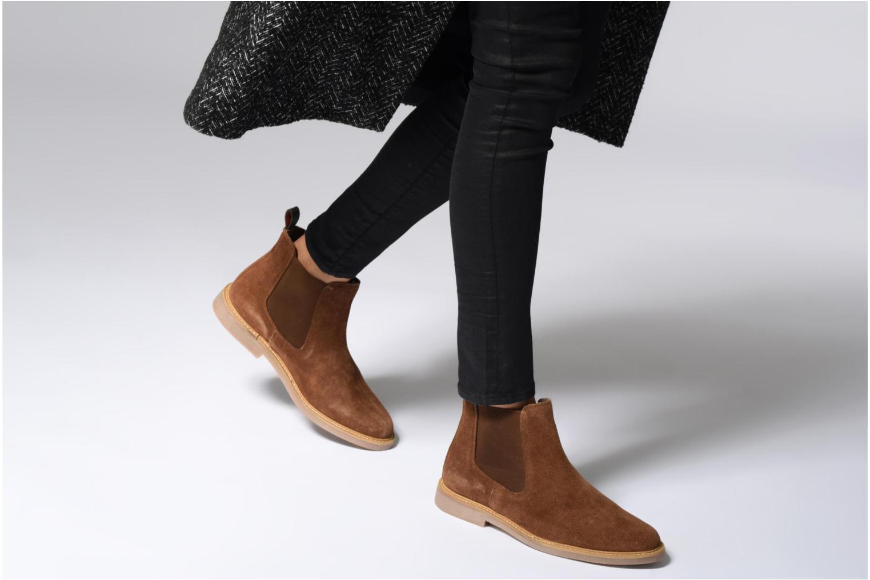 Bottines et boots Kickers TYGA Beige vue bas / vue portée sac