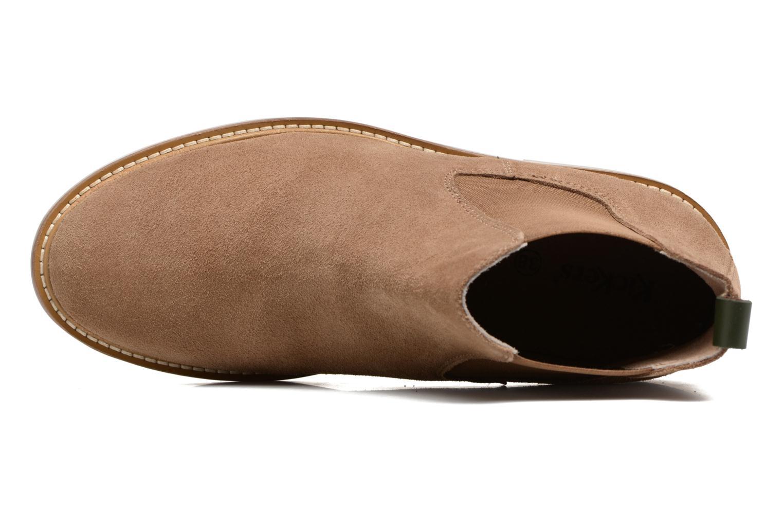 Bottines et boots Kickers TYGA Beige vue gauche