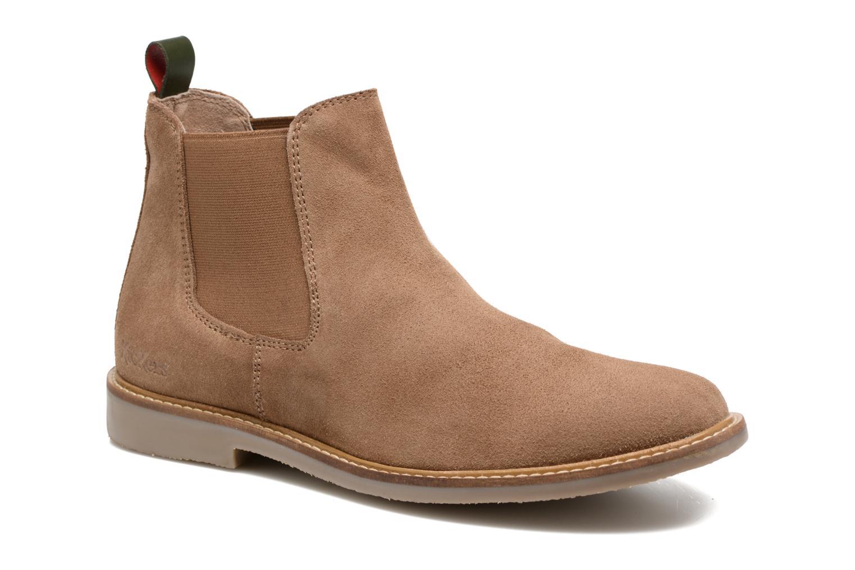 Bottines et boots Kickers TYGA Beige vue détail/paire