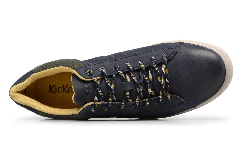 Sneaker Kickers CHRISTO blau ansicht von links
