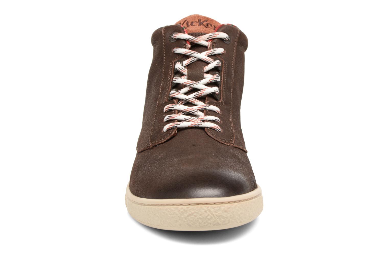 Baskets Kickers SAREPAR Marron vue portées chaussures