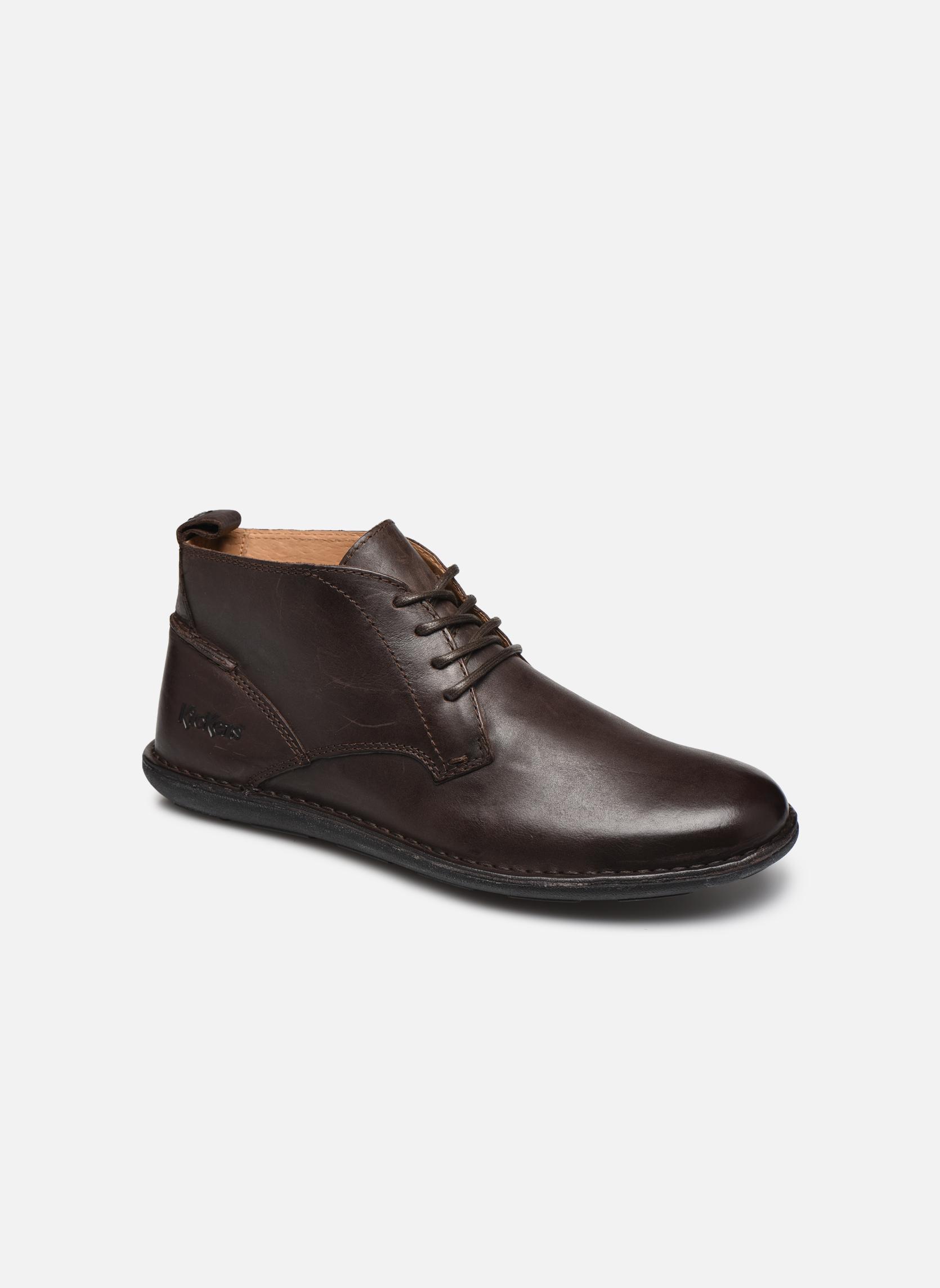 Chaussures à lacets Kickers SWIRATAN Marron vue détail/paire