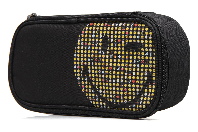 Scolaire Smiley Pen case box Noir vue portées chaussures