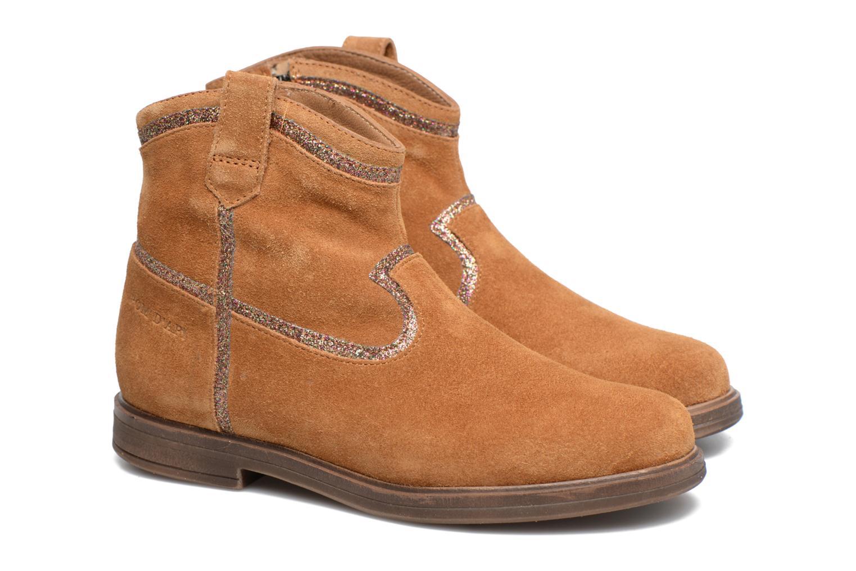 Bottines et boots Pom d Api Hobo Glitter Marron vue 3/4