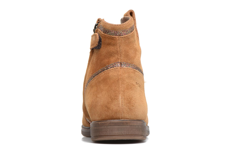 Bottines et boots Pom d Api Hobo Glitter Marron vue droite