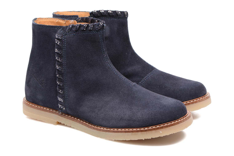Bottines et boots Pom d Api Patex Braided Bleu vue 3/4