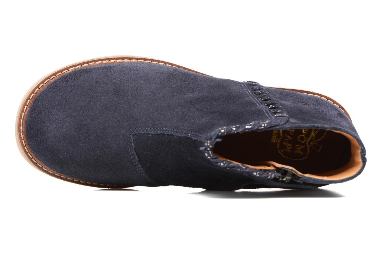 Bottines et boots Pom d Api Patex Braided Bleu vue gauche