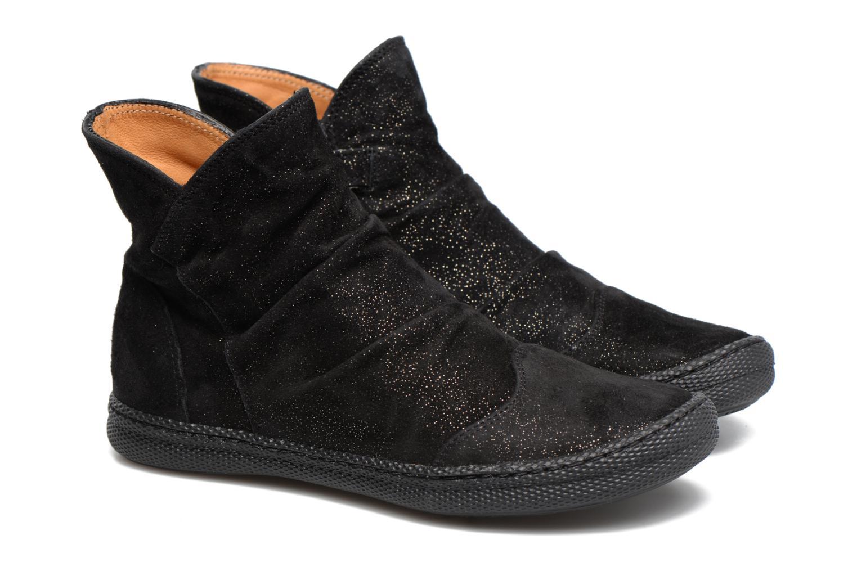 Bottines et boots Pom d Api New School Pleats Noir vue 3/4