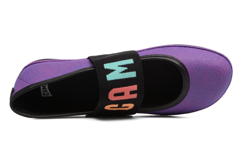 Ballerines Camper TWS K200144 Violet vue gauche