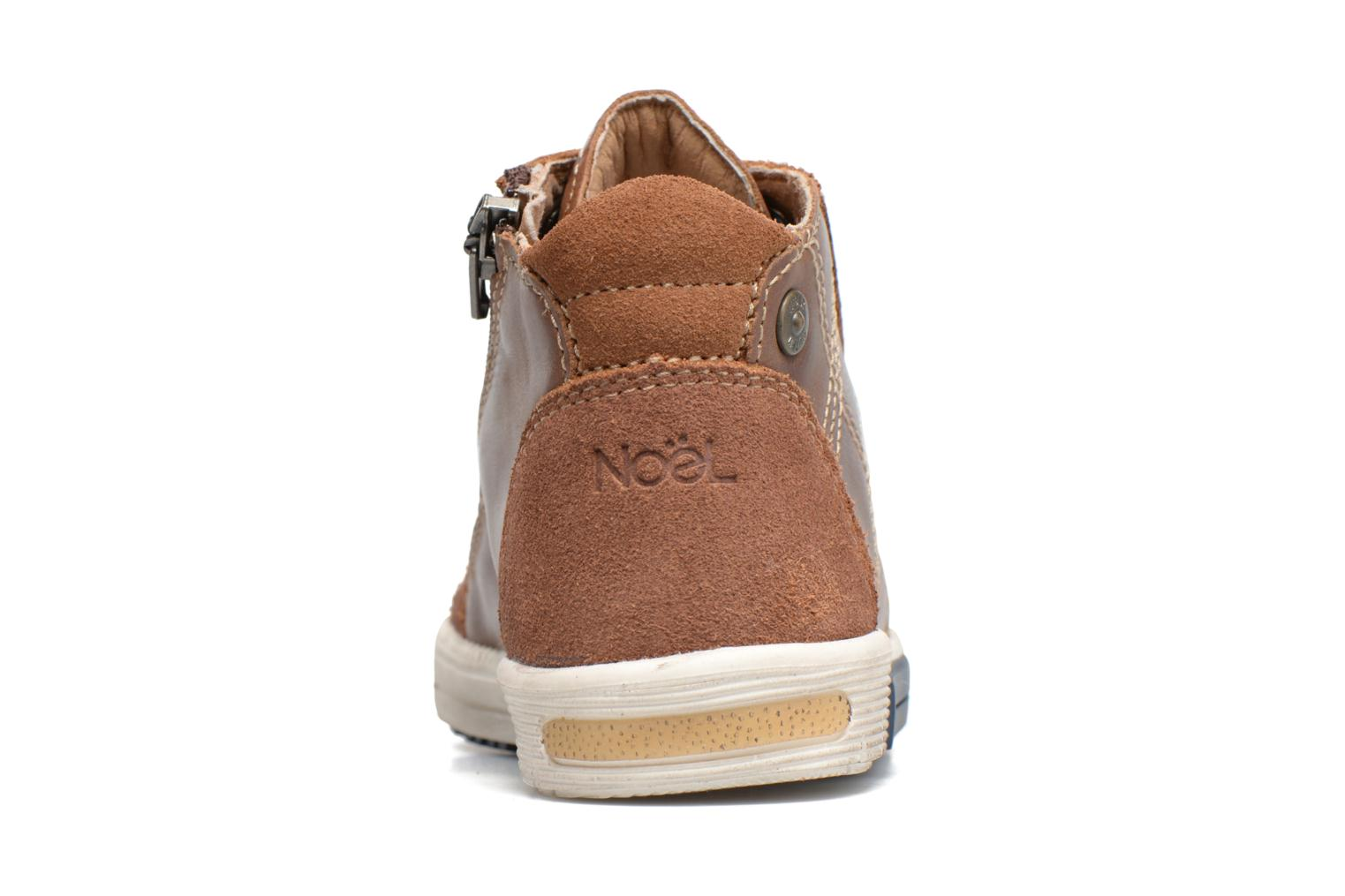 Trainers Noël Mini Rego Brown view from the right