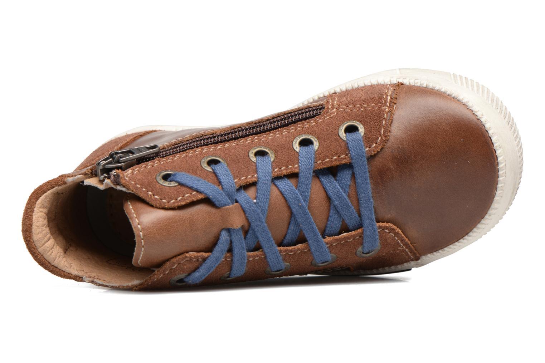 Sneakers Noël Mini Rego Marrone immagine sinistra
