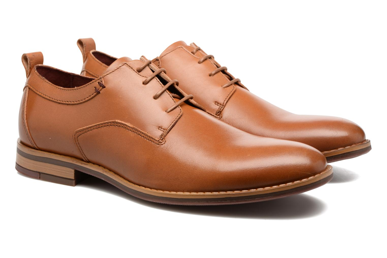 Lace-up shoes Mr SARENZA Scano Brown back view