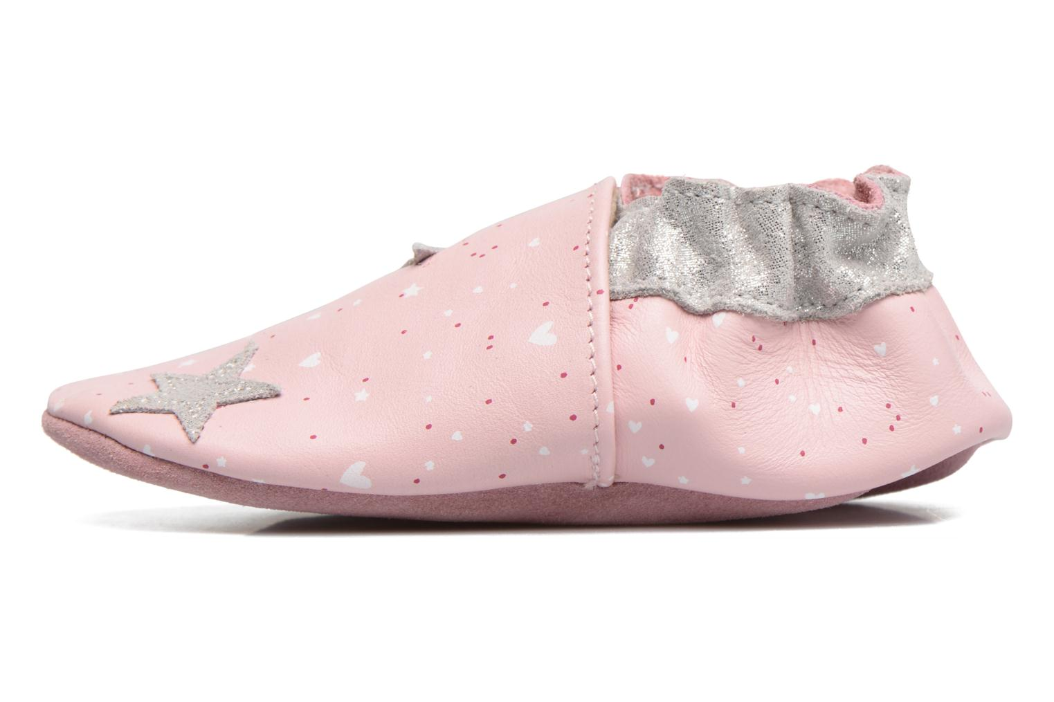 Chaussons Robeez Night Star Rose vue face