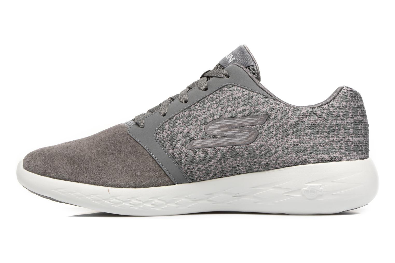 Chaussures de sport Skechers Go run 601 Gris vue face