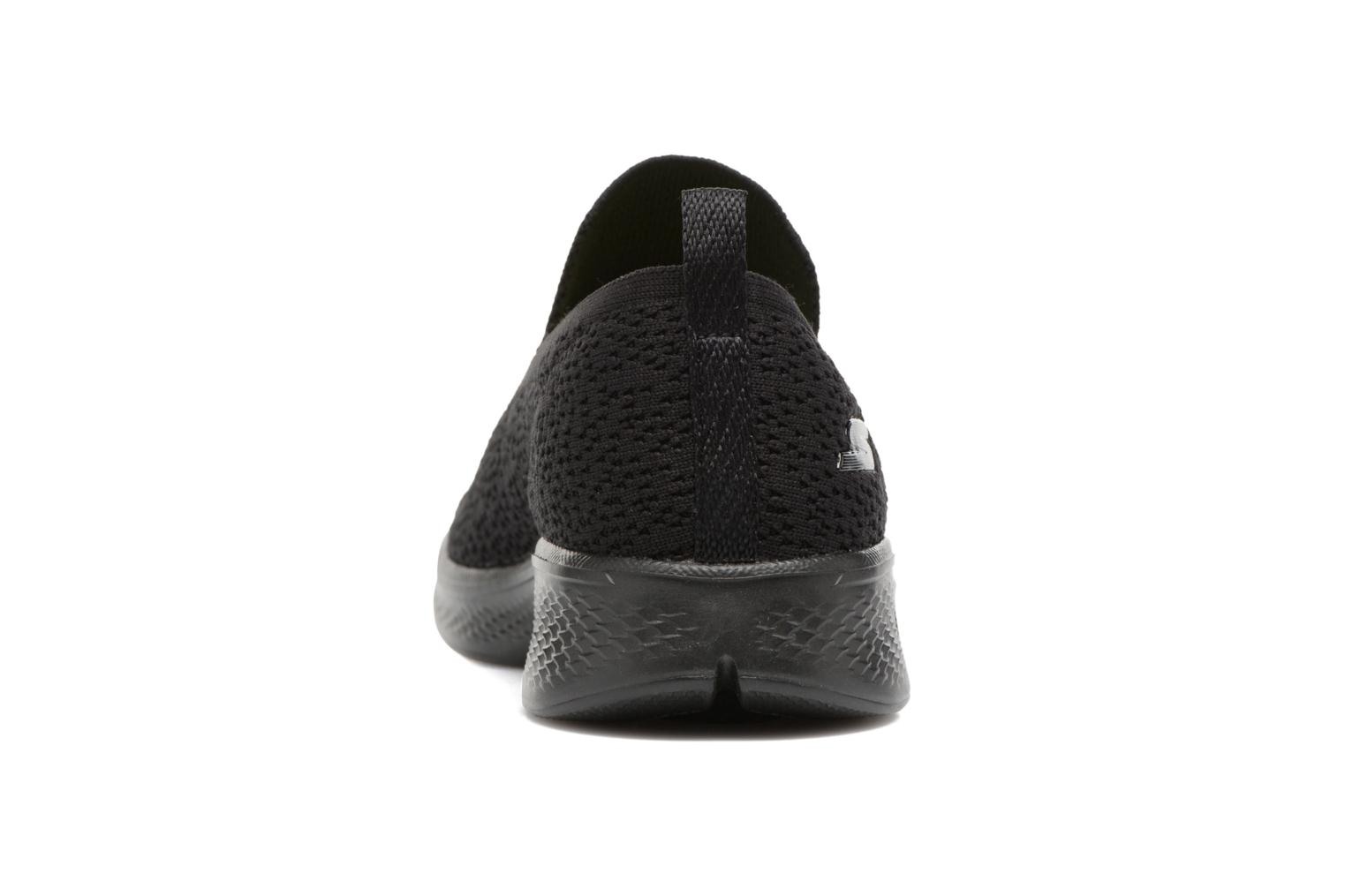 Sport shoes Skechers Go walk 4 gifted Black view from the right